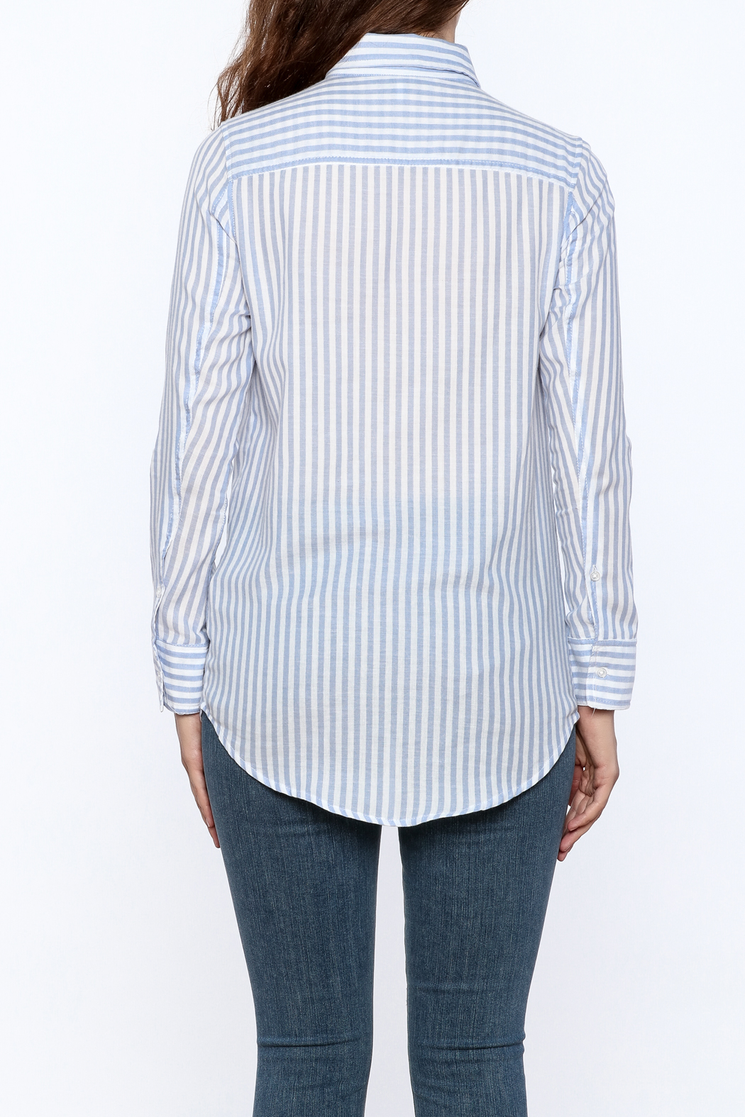 Cupcakes & Cashmere Stripe Button Down - Back Cropped Image