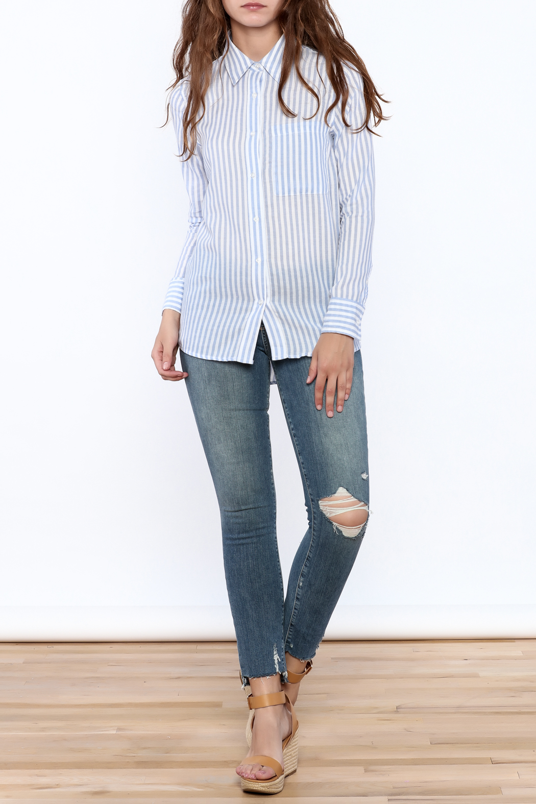 Cupcakes & Cashmere Stripe Button Down - Front Full Image