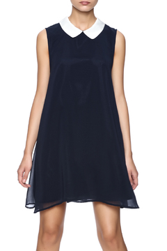 Cupcakes & Cashmere Navy Collar Dress - Product List Image