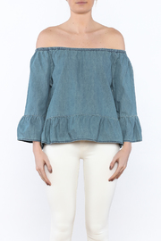Cupcakes & Cashmere Off-Shoulder Chambray Blouse - Side cropped