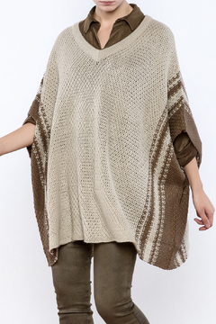 Shoptiques Product: Olive And Sand Poncho