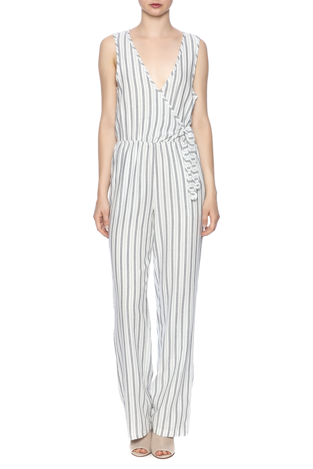 Cupcakes & Cashmere Stripe Jumpsuit - Front Cropped Image