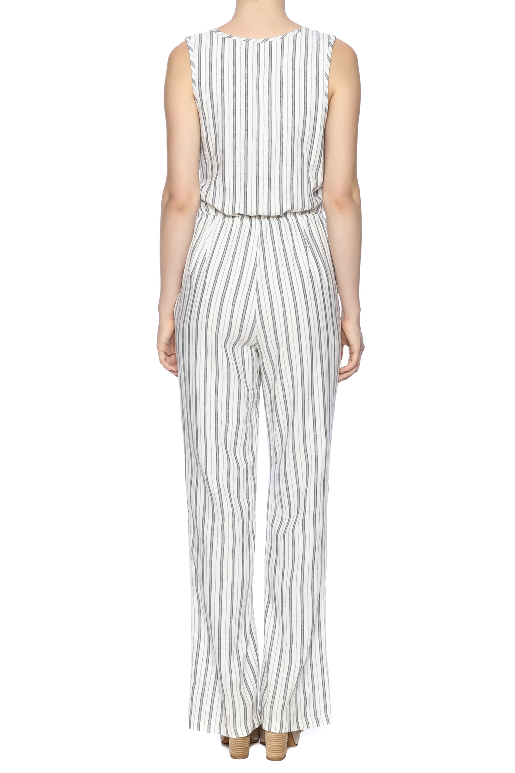 Cupcakes & Cashmere Stripe Jumpsuit - Back Cropped Image