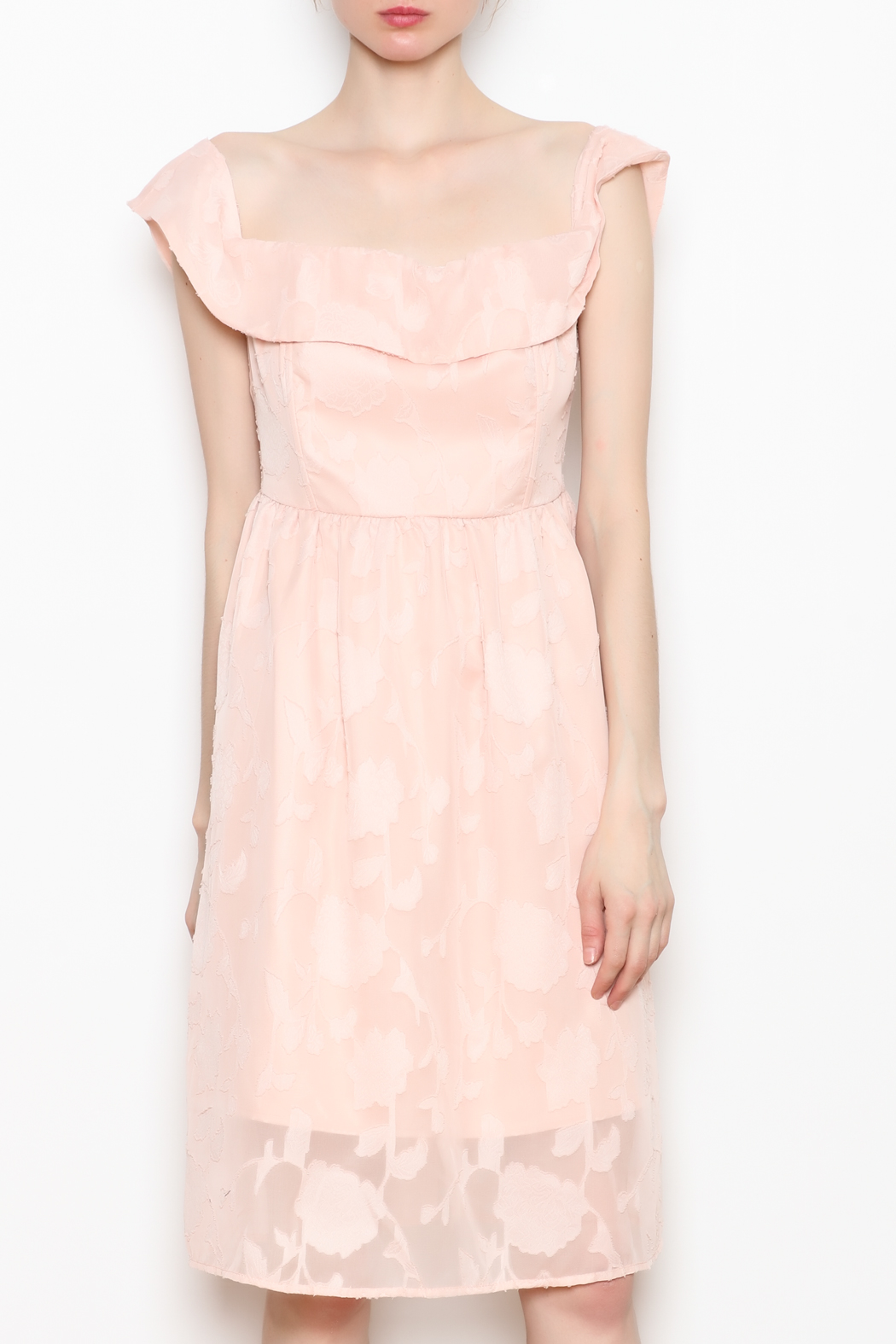 Cupcakes and Cashmere Off the Shoulder Dress - Main Image