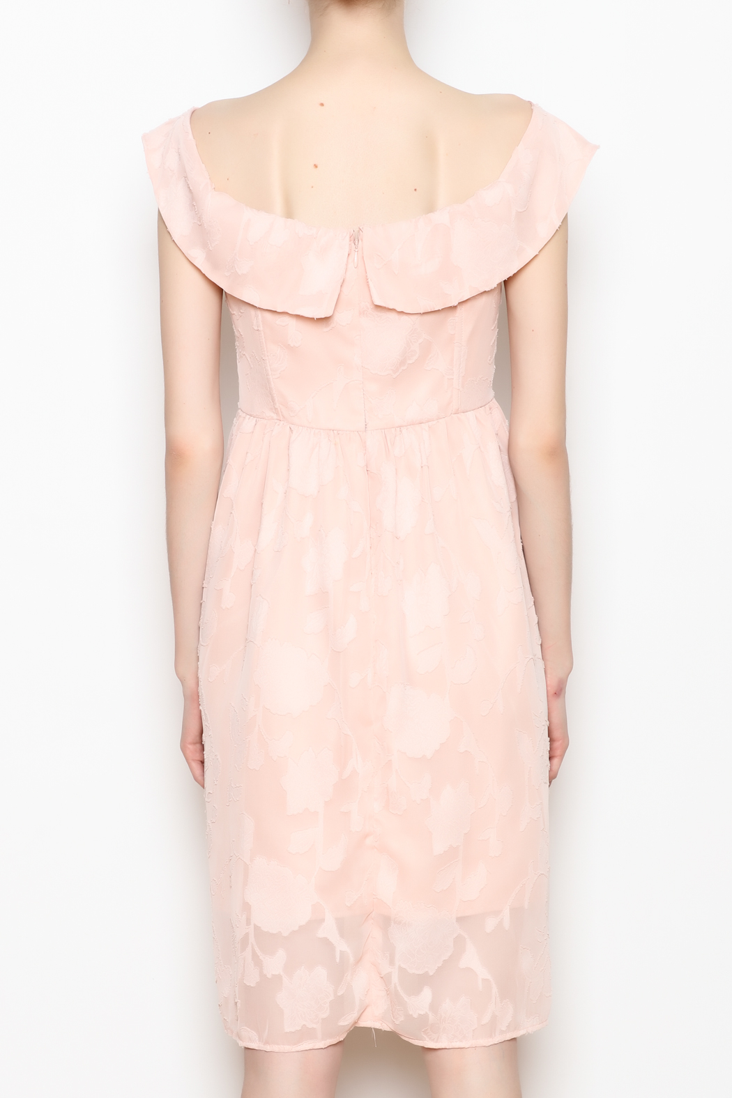 Cupcakes and Cashmere Off the Shoulder Dress - Back Cropped Image