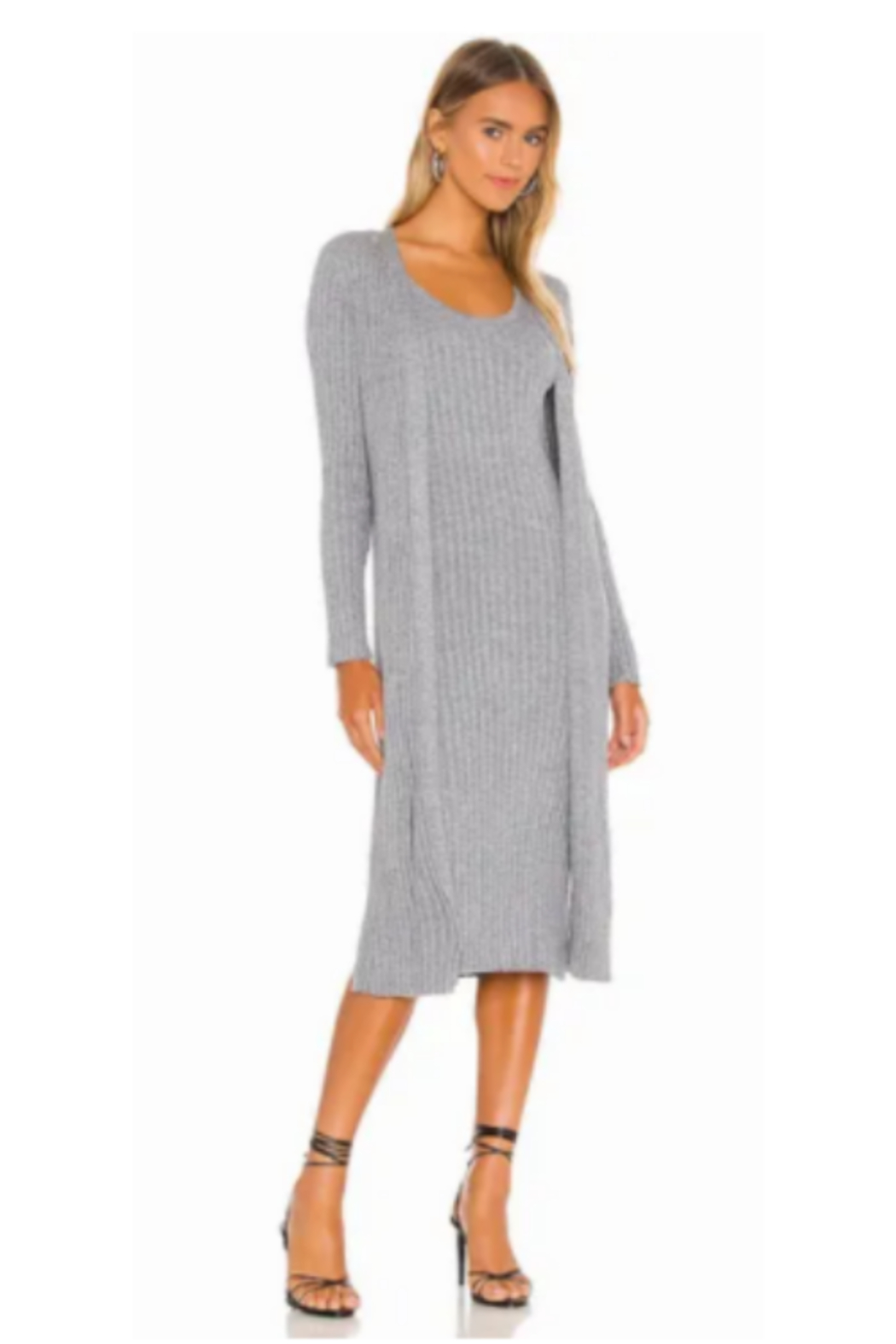 Cupcakes & Cashmere Paloma Ribbed Open Front Duster - Main Image