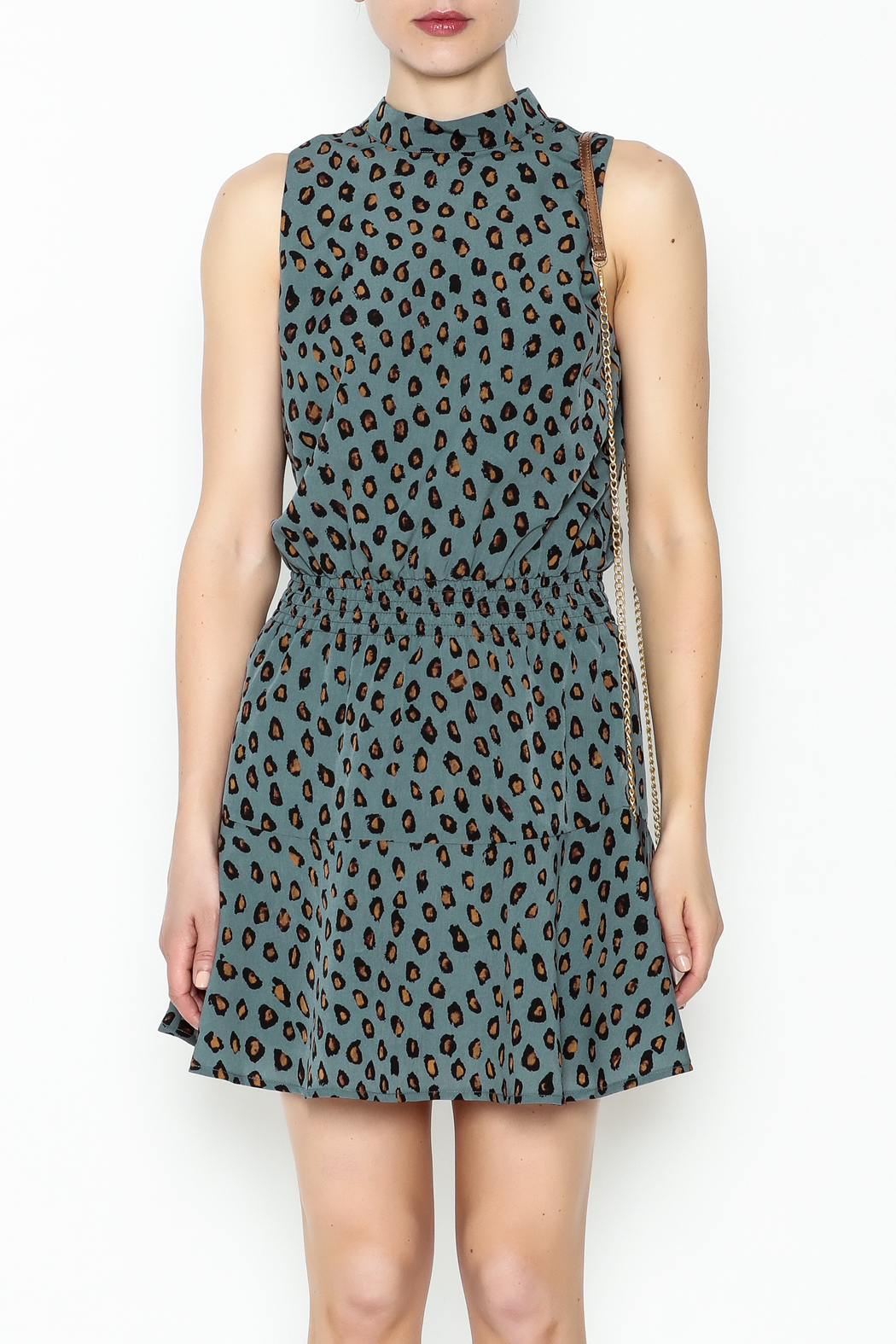 Cupcakes and Cashmere Waist Leopard Dress - Front Full Image