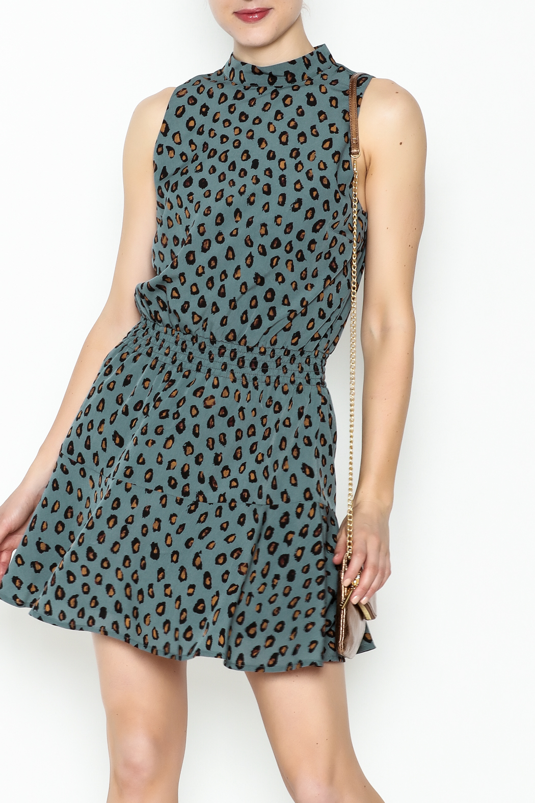 Cupcakes and Cashmere Waist Leopard Dress - Main Image