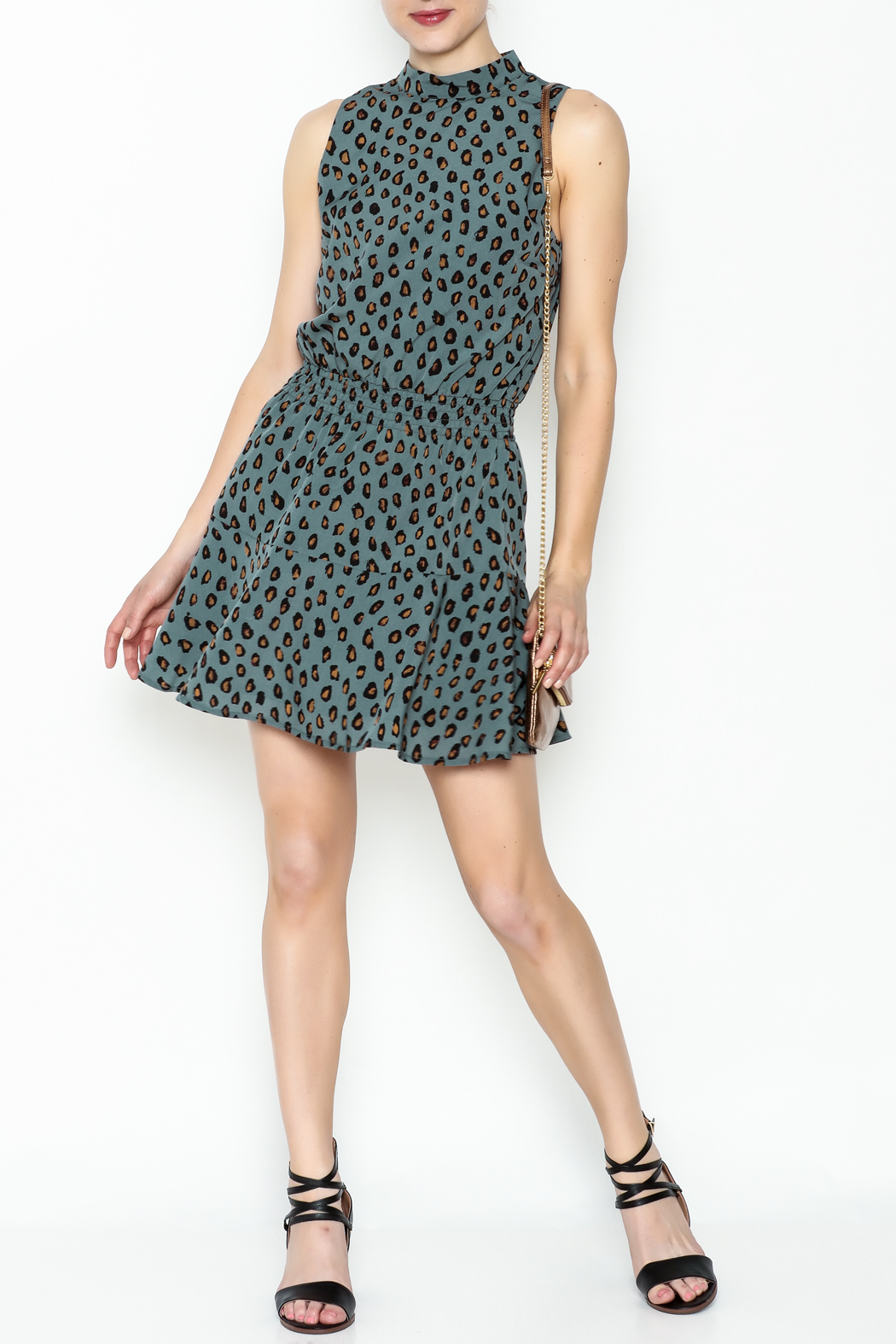 Cupcakes and Cashmere Waist Leopard Dress - Side Cropped Image