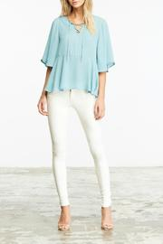 Cupcakes & Cashmere Alice Lace Up Top - Product Mini Image