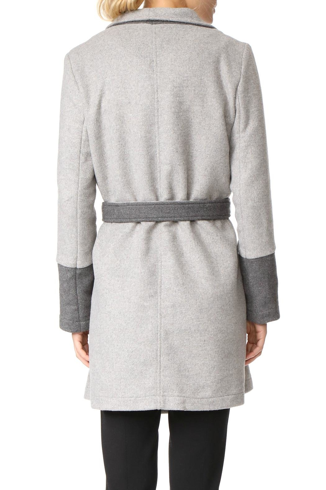 Cupcakes & Cashmere Colorblocked Wrap Coat - Front Full Image