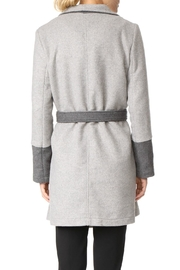 Cupcakes & Cashmere Colorblocked Wrap Coat - Front full body