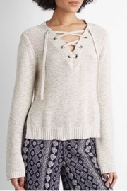 Cupcakes & Cashmere Draw-String Crop Sweater - Product Mini Image