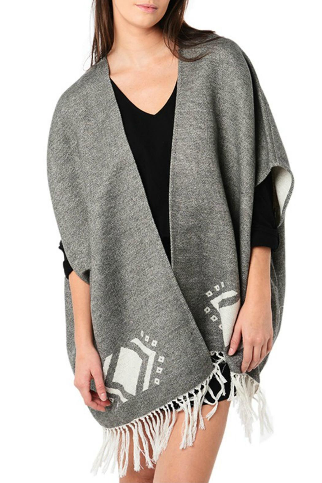 Image of: Cupcakes Cashmere Jordy Blanket Poncho From Canada By Blue Sky Fashions Lingerie Shoptiques