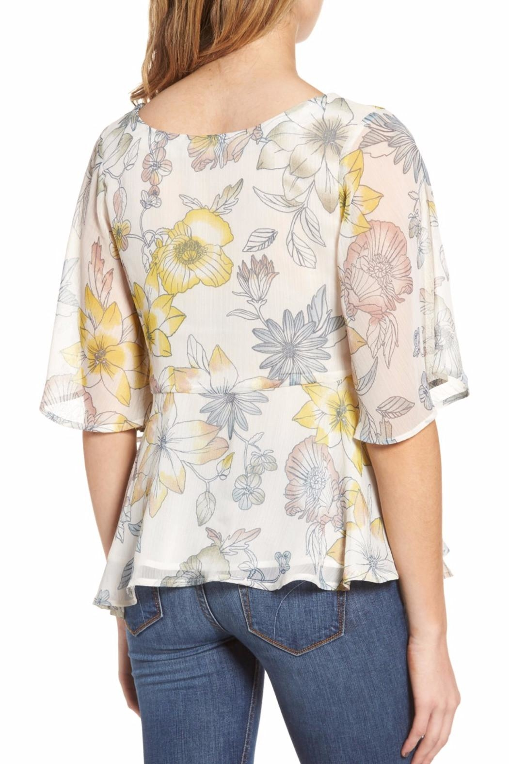 Cupcakes & Cashmere Keenan Floral Blouse - Front Full Image