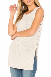 Cupcakes & Cashmere Paxton Lace-Up Tunic - Product Mini Image