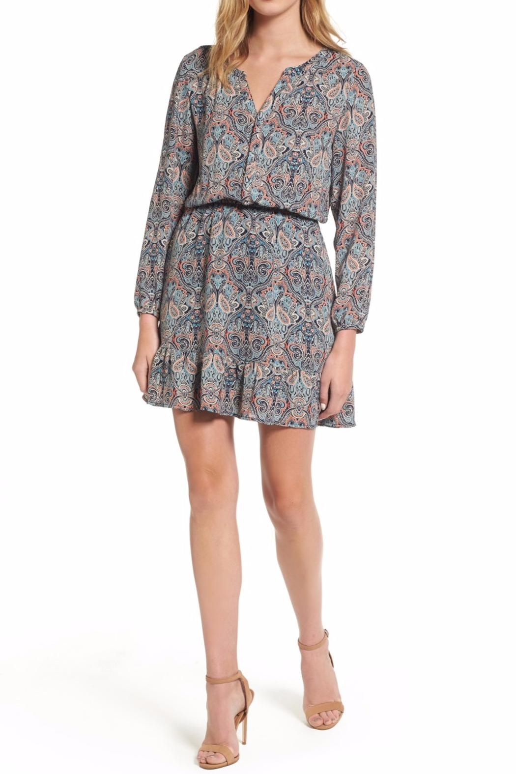 Cupcakes & Cashmere Selma Paisley Dress - Front Cropped Image