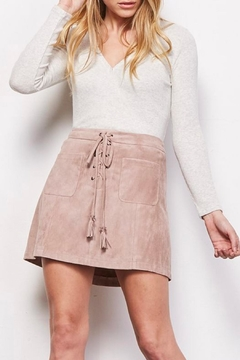 Cupcakes and Cashmere Marcel Faux-Suede Skirt - Product List Image