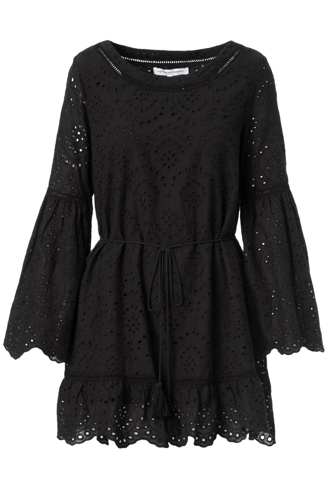 Cupcakes and Cashmere Ruben Flutter Dress - Back Cropped Image