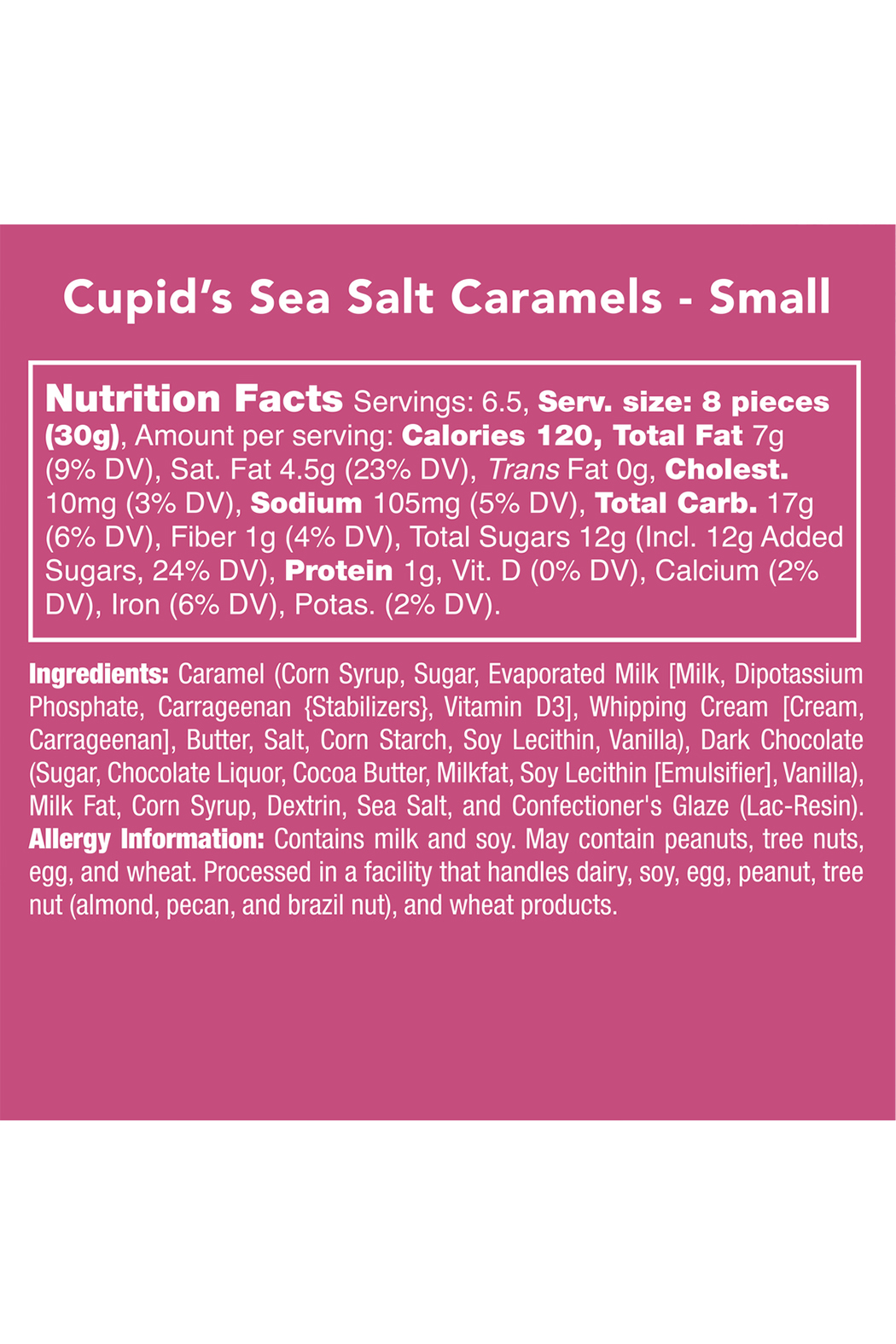 Candy Club Cupid's Sea Salt Caramels - Side Cropped Image
