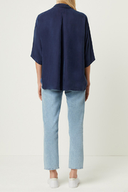 French Connection CUPRO BUTTON DOWN TOP - Back cropped