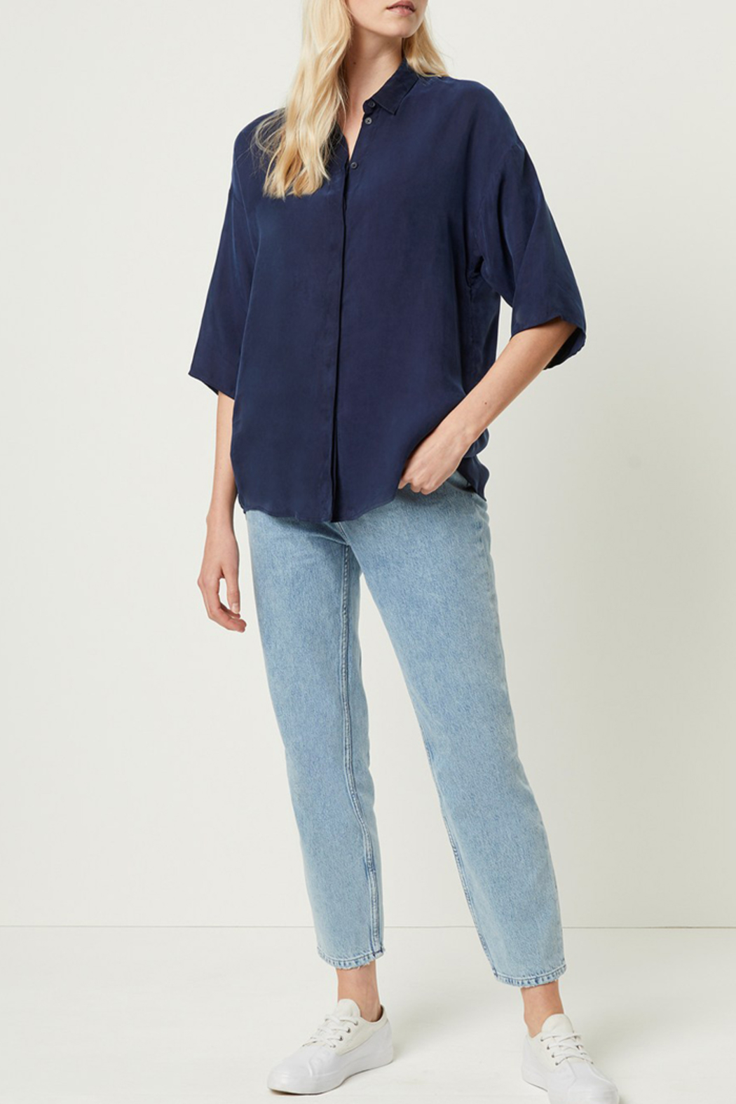 French Connection CUPRO BUTTON DOWN TOP - Main Image
