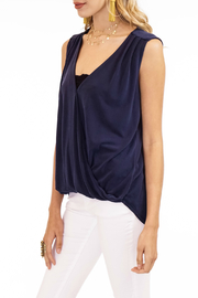 Veronica M Cupro Sleeveless Surplice Top - Front full body
