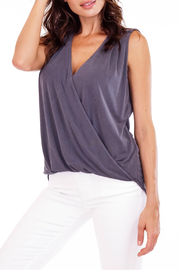 Veronica M Cupro Sleeveless Surplice Top - Product Mini Image