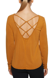 Betsey Johnson Cupro Strappy Back L/S Tee - Product Mini Image
