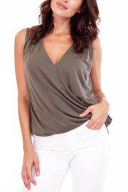 Veronica M Cupro Tank - Front cropped