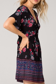 Band Of Gypsies Curacao Floral Dress - Front full body
