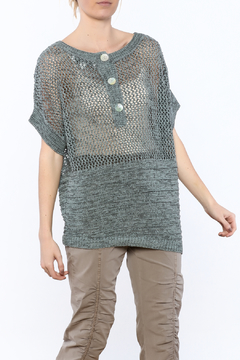 Shoptiques Product: Grey Ribbon Tunic Sweater