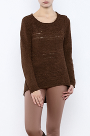 Curio High Low Ribbon Knit Sweater - Product Mini Image