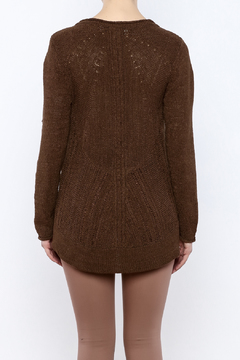 Curio High Low Ribbon Knit Sweater - Alternate List Image