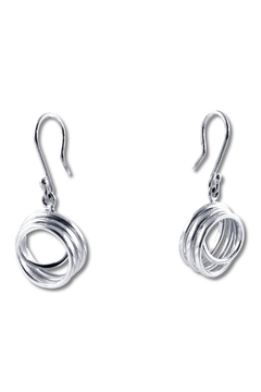 Shoptiques Product: Curly Silver Earrings