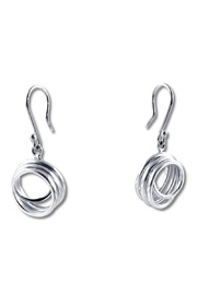 Galerias 925 Curly Silver Earrings - Product Mini Image