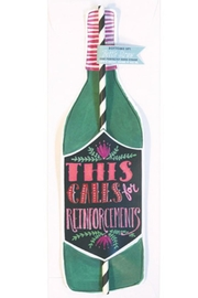 Curly Girl Designs Calls-For-Reinforcements Wine-Bottle Card - Product Mini Image