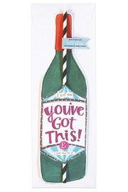Curly Girl Designs You've-Got-This Wine-Straw Card - Front cropped