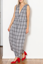 Current Air Black Plaid Maxi - Side cropped