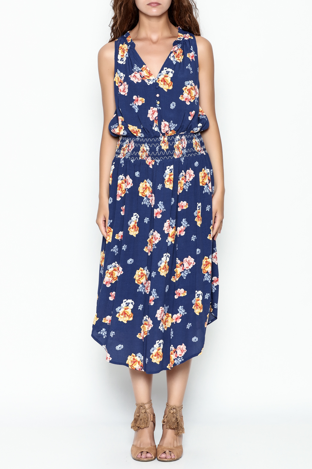 Current Air Bright Floral Dress - Front Full Image
