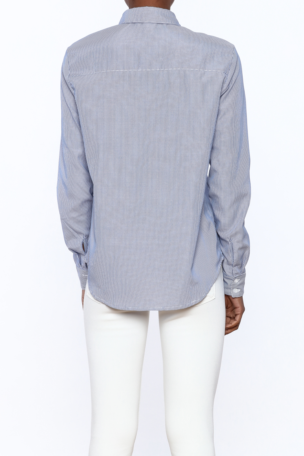 Current Air Embroidered Button Down - Back Cropped Image