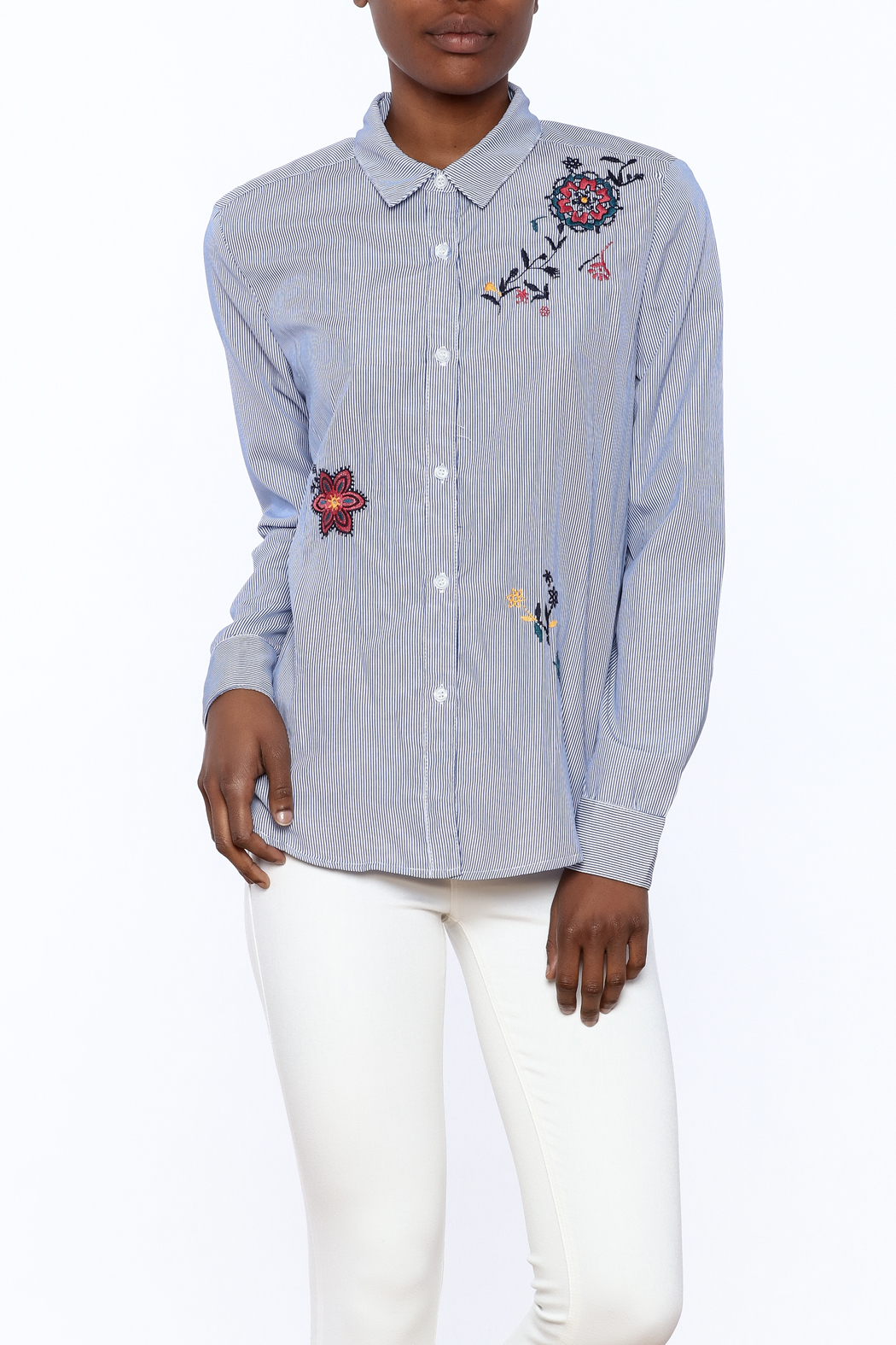 Current Air Embroidered Button Down - Main Image