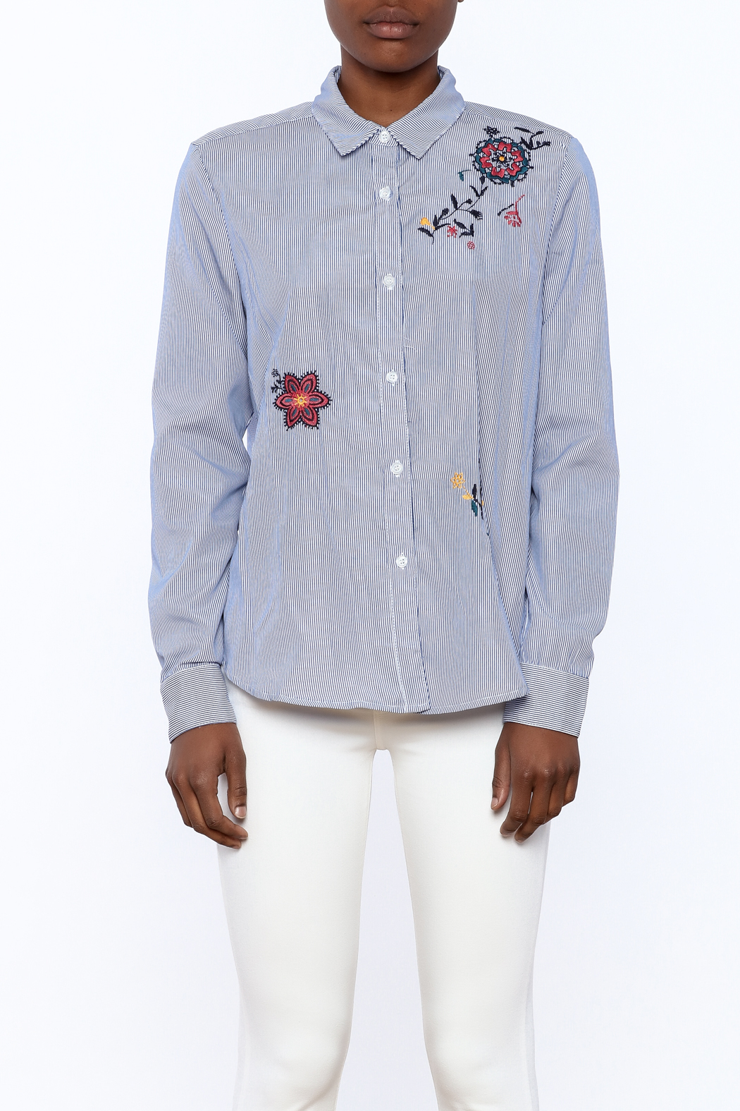 Current Air Embroidered Button Down - Side Cropped Image