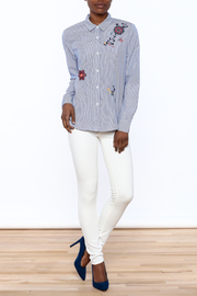 Current Air Embroidered Button Down - Front full body
