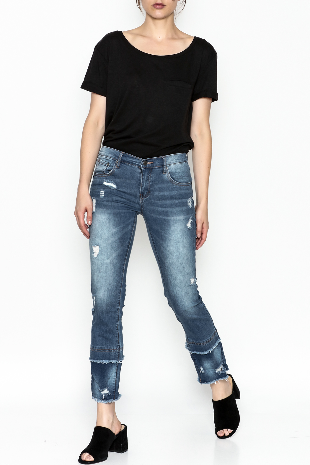 Current Air Fray Hem Jeans - Side Cropped Image