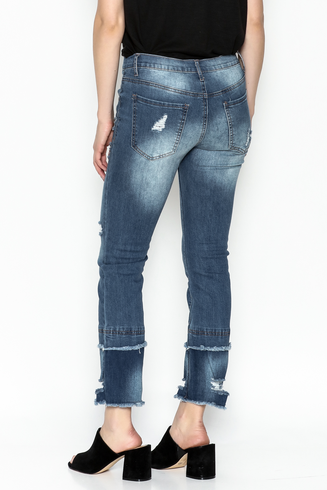 Current Air Fray Hem Jeans - Back Cropped Image