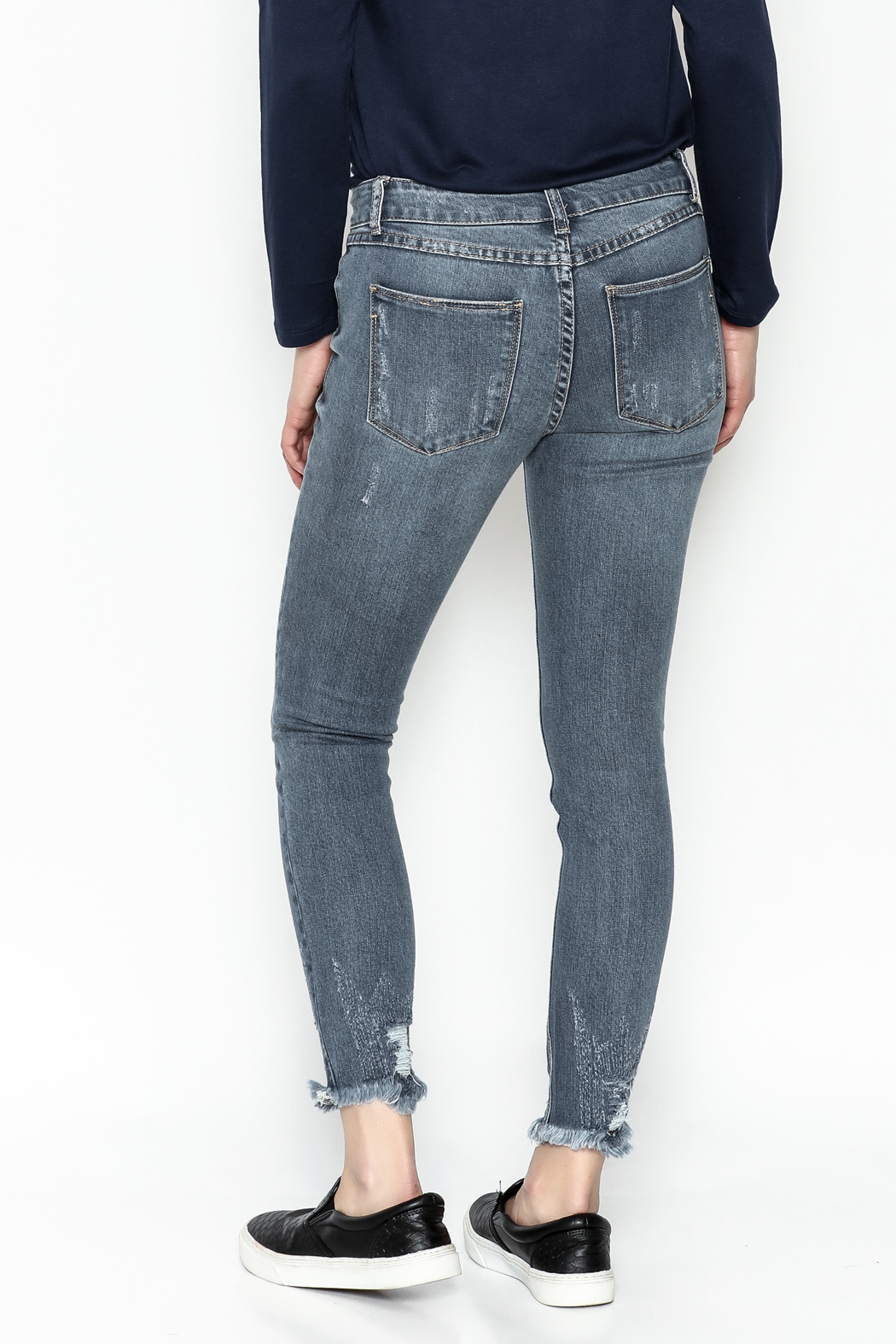Current Air Jenee Distressed Jeans - Back Cropped Image