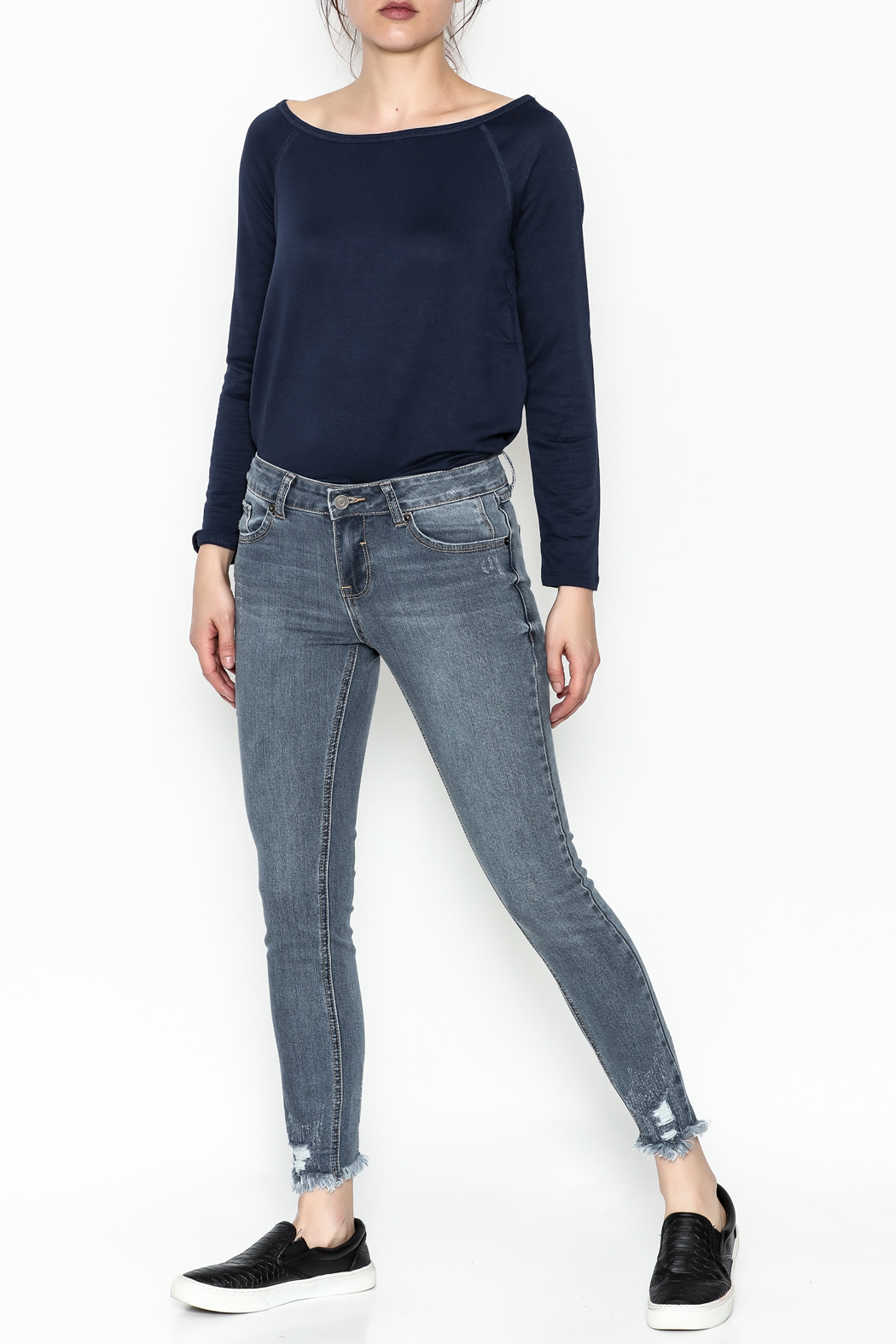 Current Air Jenee Distressed Jeans - Side Cropped Image