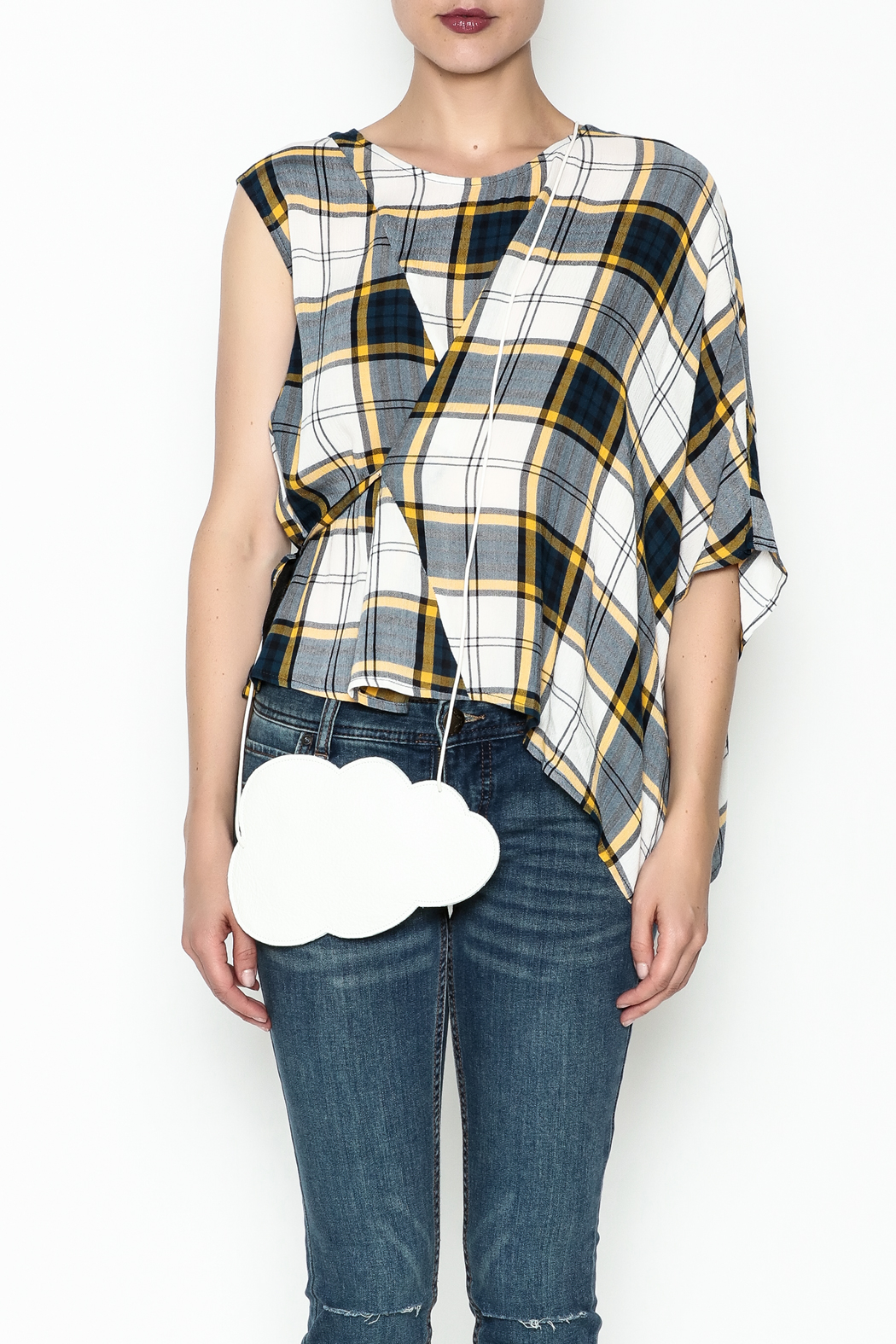 Current Air Plaid Blouse - Front Full Image