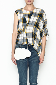 Current Air Plaid Blouse - Front full body